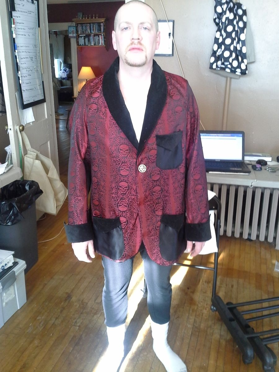 Handmade Vintage Style Tuxedo Smoking Jacket By Tony Bud S