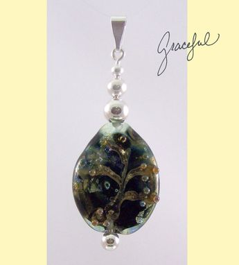 Custom Made Graceful Green World Lampwork Glass Pendant