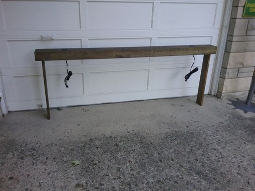 Custom Made Console Sofa Table Behind The Couch