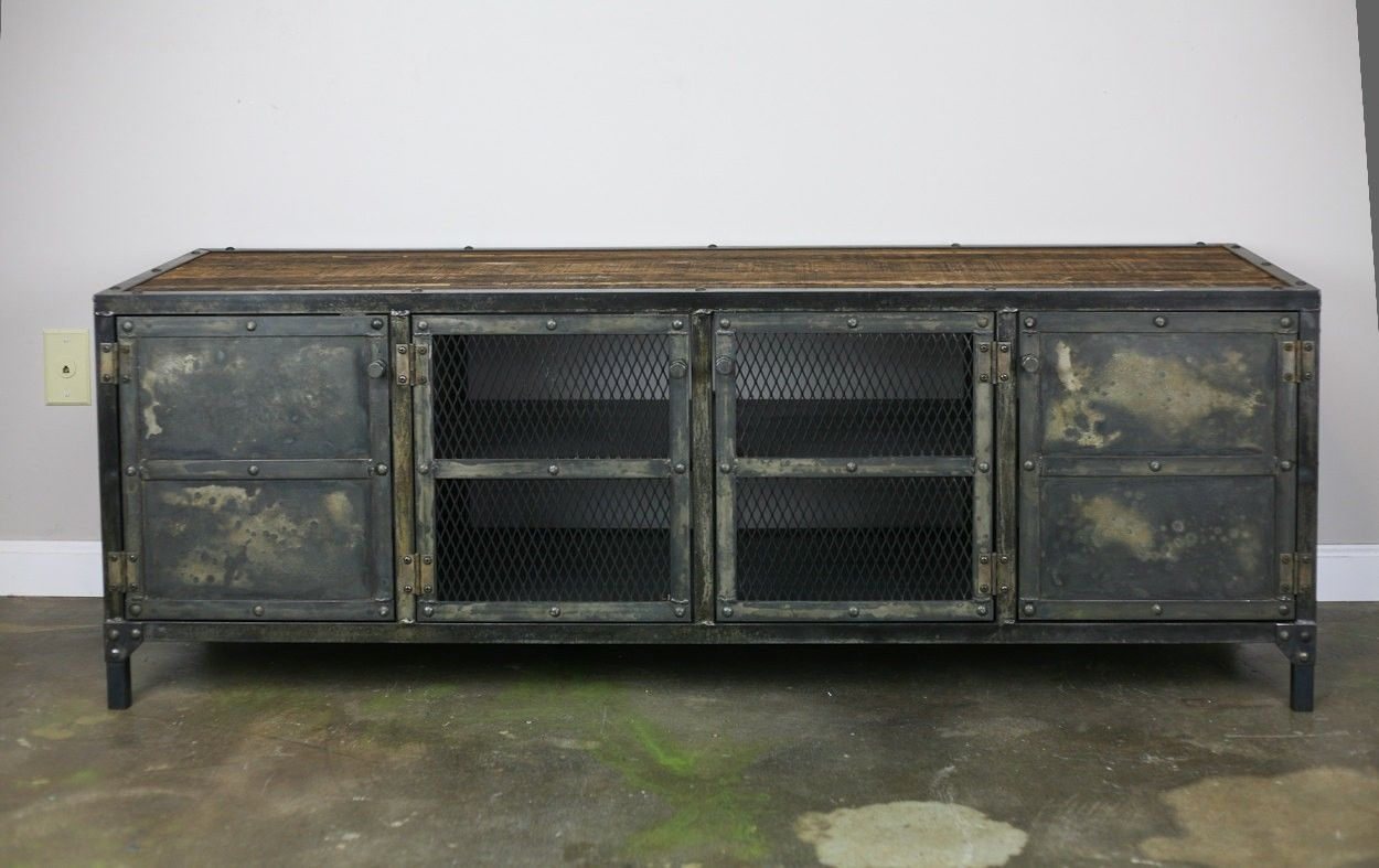 buy handmade vintage industrial buffet credenza reclaimed wood top steel urban design custom. Black Bedroom Furniture Sets. Home Design Ideas