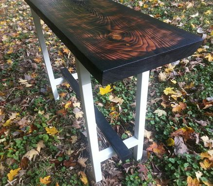 Hand Crafted Cauterized Kentucky Coffee Tree Console Table