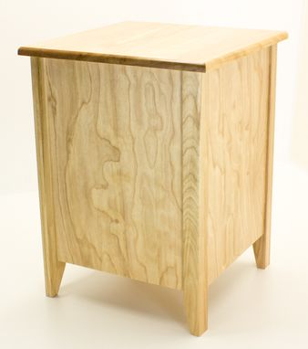 Custom Made Red Birch Nightstand