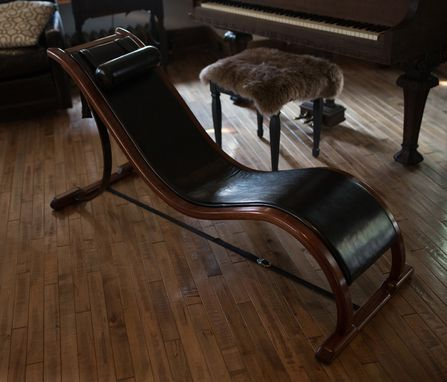 Custom Made Luxury Bent Wood Chaise Combines Form And Multi-Function