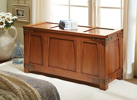 Custom Made Craftsman Style Blanket Chest