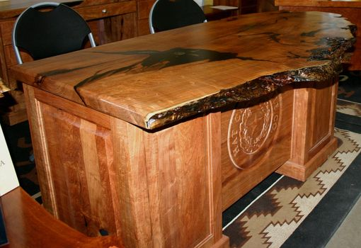 Custom Made Lonesome Dove Mesquite Executive Desk