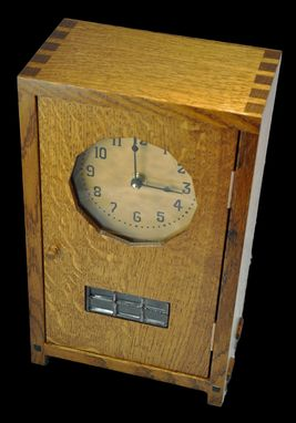Custom Made Stickley Style Mantle Clock