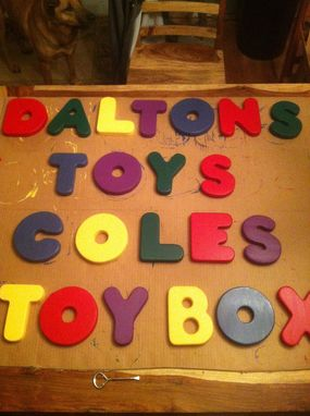 Custom Made Wooden Letters