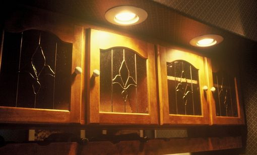 Custom Made Stained Glass Cabinet Inserts