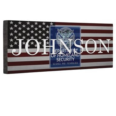 Custom Made Hero Dept Of Homeland Security Flag Canvas Wall Art