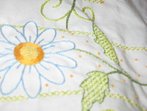 Custom Made Daisy Pillowcase