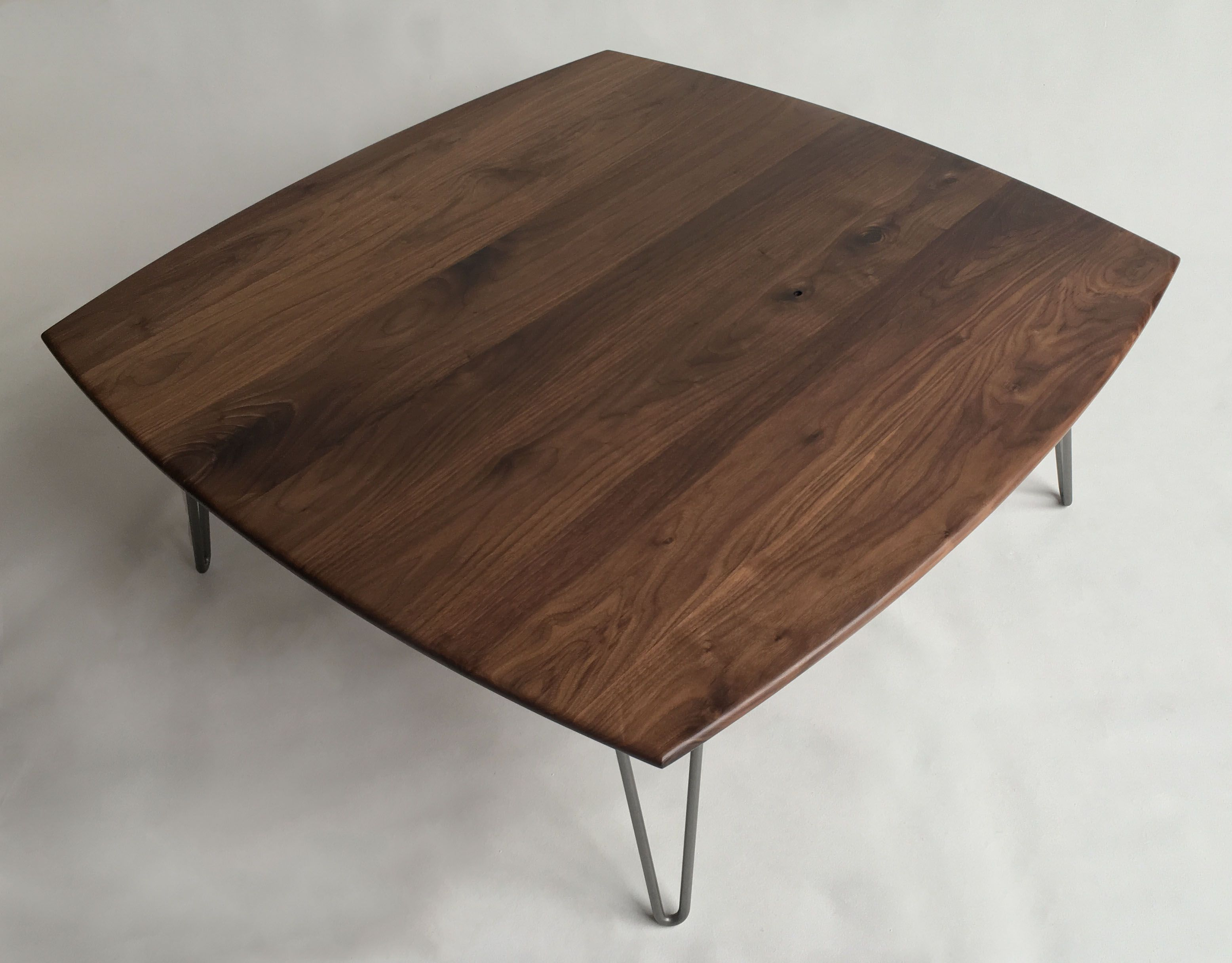 Custom Made Solid Walnut Tail Table 44 X Square Mid Century Modern Coffee