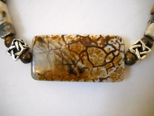 Custom Made Square Tibetan Agate Necklace