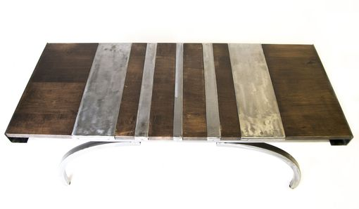 Custom Made Wood And Steel Bench