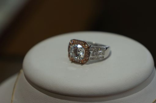Custom Made Two Tone Gold With Diamond Engagement Ring