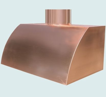 Custom Made Copper Range Hood With Natural Matte Finish