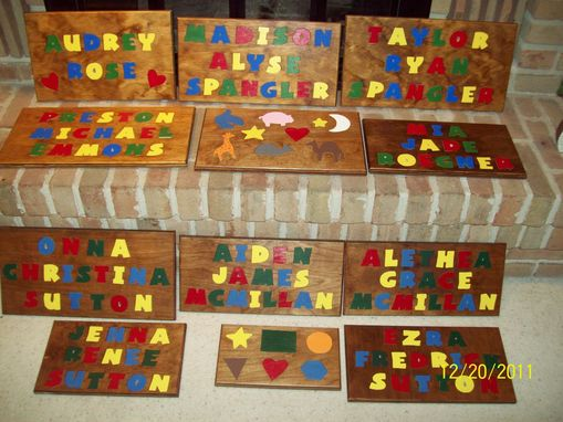 Custom Made Name Puzzles