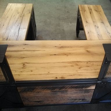 Custom Made Custom Reception Desk Reclaimed Wood