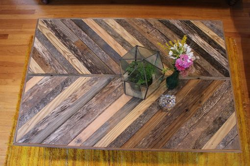 "Custom Made Rustic Reclaimed & Sustainably Harvested Wood Coffee Table ""Volans''"