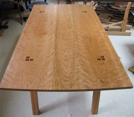 Custom Made Ebony Inlaid Cherry Dining Table