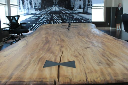 Custom Made Reclaimed Live Edge Elm Table
