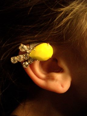 Custom Made Vintage Rhinestone Ear Cuff