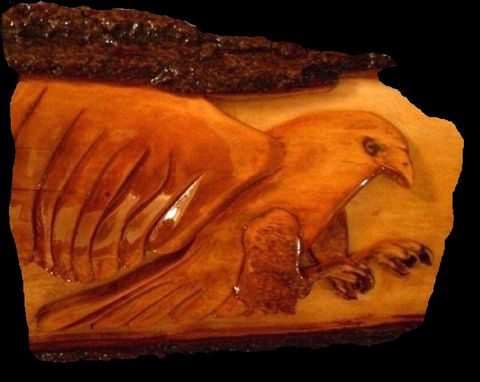 Custom Made Hawk-Relief Carving By Mark Ash
