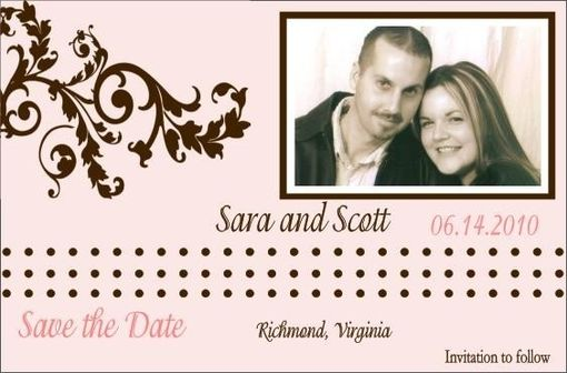 Custom Made Customizable Photo Save The Date- Modern Fun Design You Choose The Colors Listing Stats