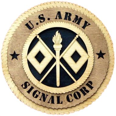 Custom Made U.S Army Signal Corps Wall Tribute, U.S Army Signal Corps Hand Made Gift