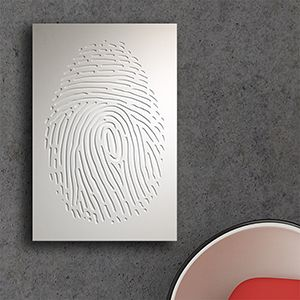 Custom Made Relief Wall Graphic: Thumbprint