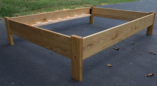simple queen size platform bed frame hardwoods ash oak maple ambrosia maple cherry or walnut