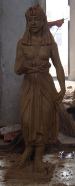 Custom Made Wax-Cast Bronze Egyptian Princess Statue