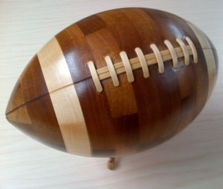 Custom Made Segmented Wooden Football