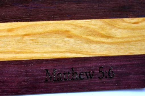 Custom Made Engraved Cutting Board (Matthew 5:6)