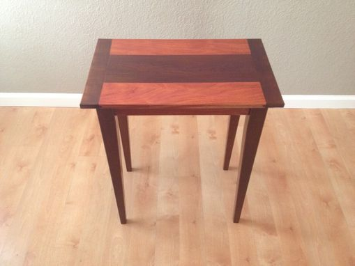 Custom Made Roasted Maple / Mahogany End Table