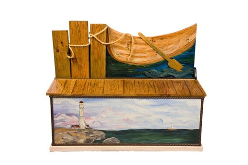 Custom Made Lighthouse Custom Blanket Chest
