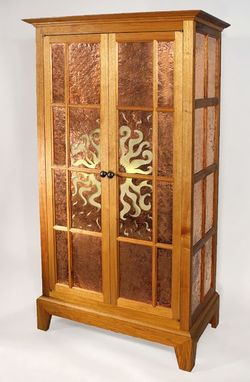 Custom Made Rising Sun Cabinet