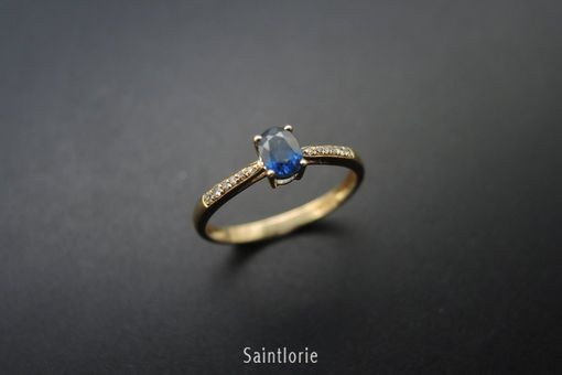 Custom Made 0.43 Carat Sapphire Engagement Ring