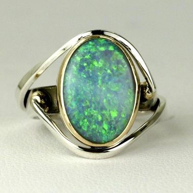 Custom Made Solid Brazilian Opal Ring