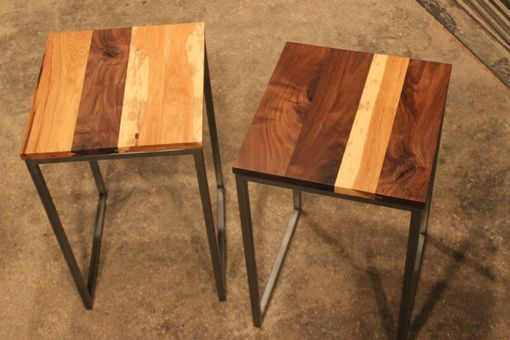 Custom Made Black Walnut & Hickory Side Tables