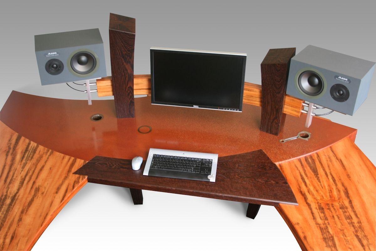 handmade custom made computer desk by custom