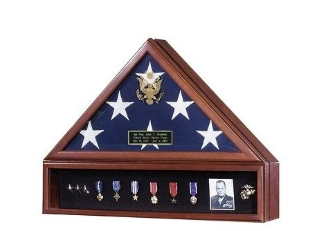 Custom Made Flag And Medal Display Cases - High Quality