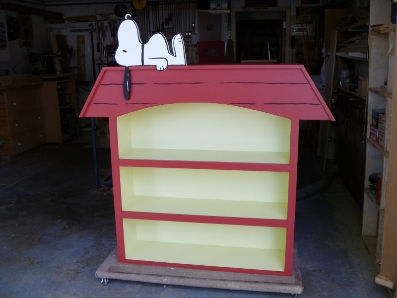Custom Snoopy Doghouse Bookcase by Feebi's Woodworking | CustomMade.com