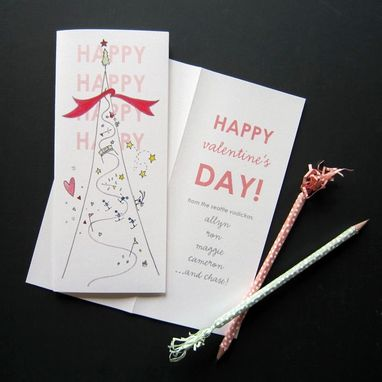 Custom Made Custom Valentine's Day Cards