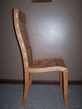 Custom Made Rope And Block Dining Chair