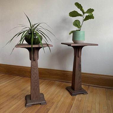 Custom Made Pedestal Plant Stand, Hardwood—Perfect For Heavy Pots!
