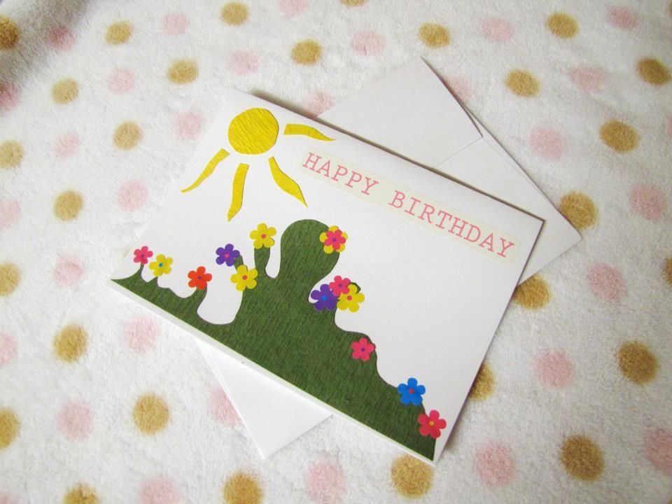 Hand Crafted Handmade 5x7 Ooak Happy Birthday Cards With Envelope By