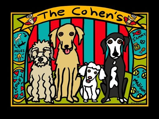 Custom Made Cohen Dogs Custom Narrative Pet Portrait Print