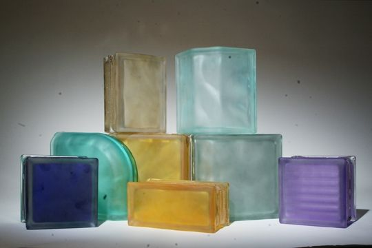 Handmade Frosted Glass Block By Columbus Glass Block