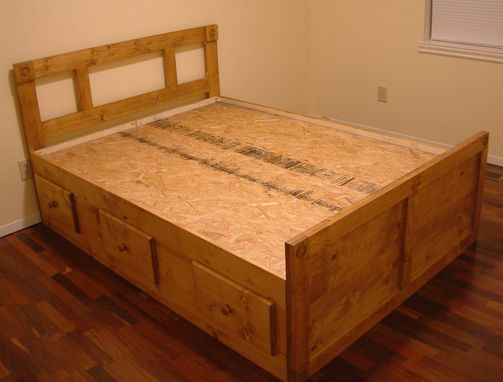 Custom Made Full Size And Queen Size Platform/Captain's Bed