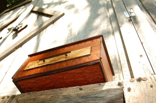 Custom Made Jewlery Box Made Of: Pommele Sapele, Sapele, Laurel Ash Burl, Wenge, And Cherry